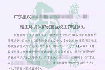 广东星汉实业有限公司验收意见